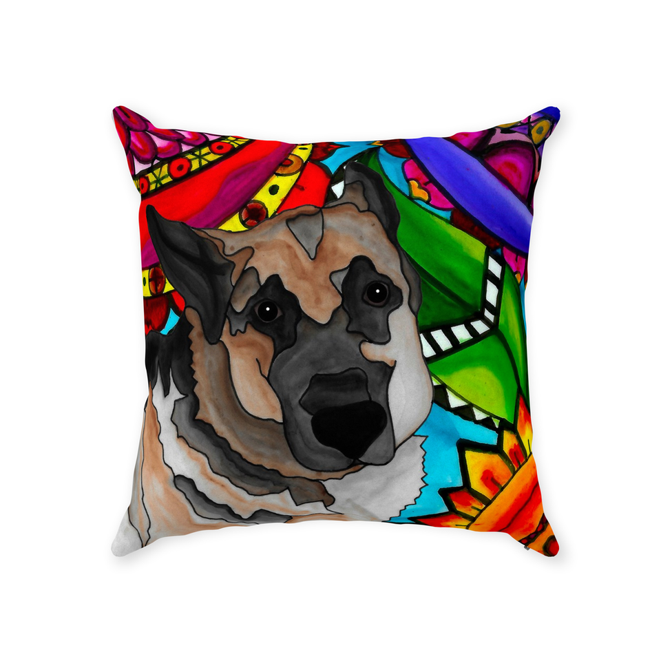 German Shepherd Dog Indoor Pillow - 2 - BL