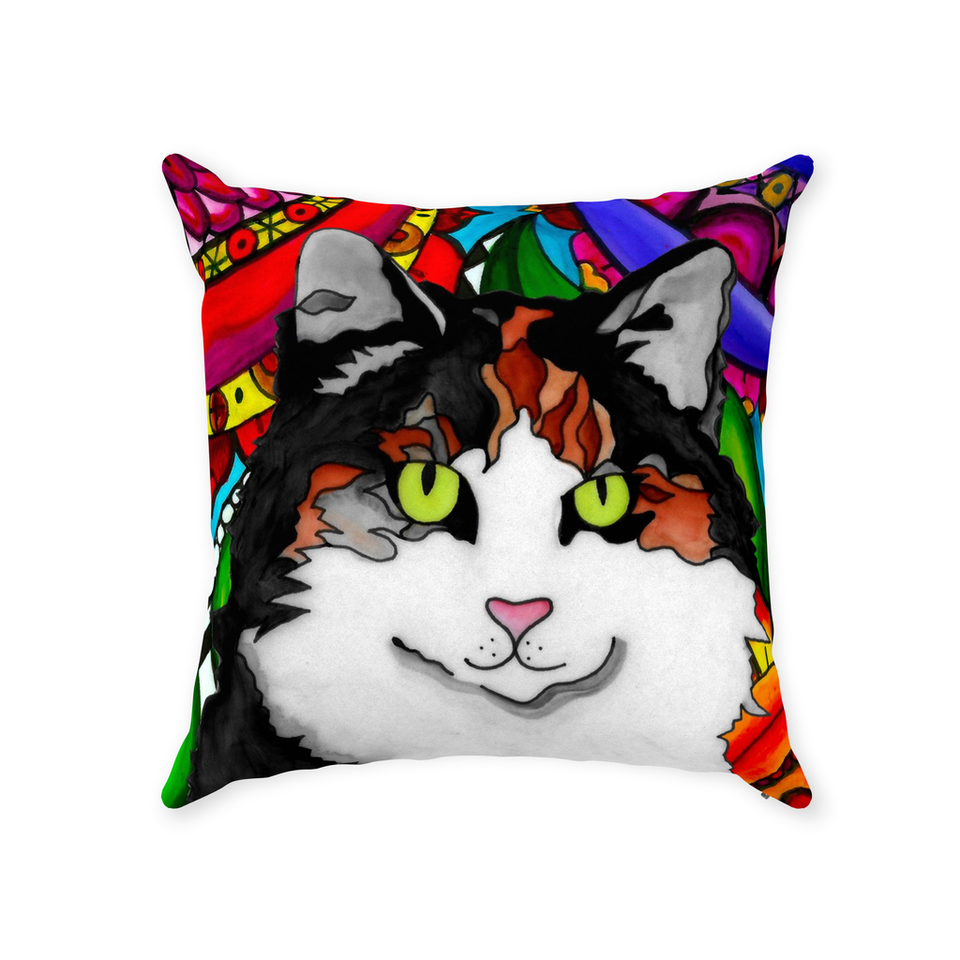 Calico Cat Indoor Pillow - BL