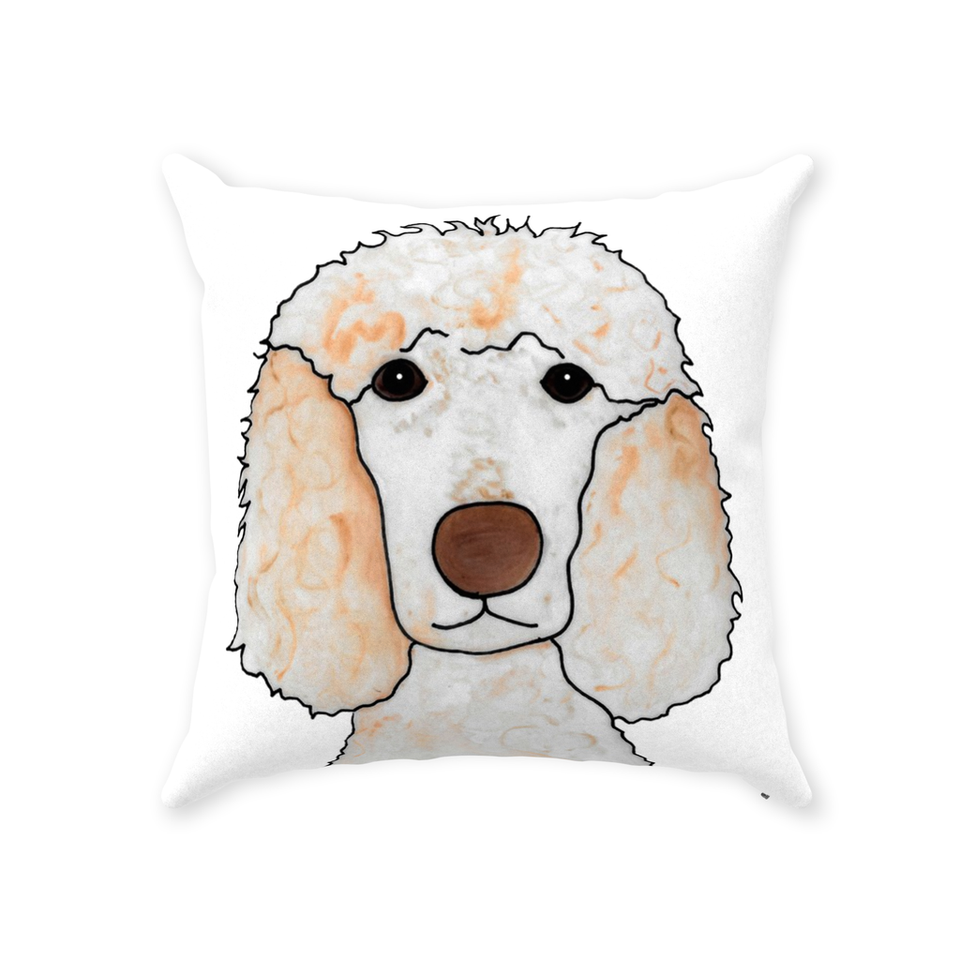 Standard Poodle Dog Indoor Pillow - 2 - SMH
