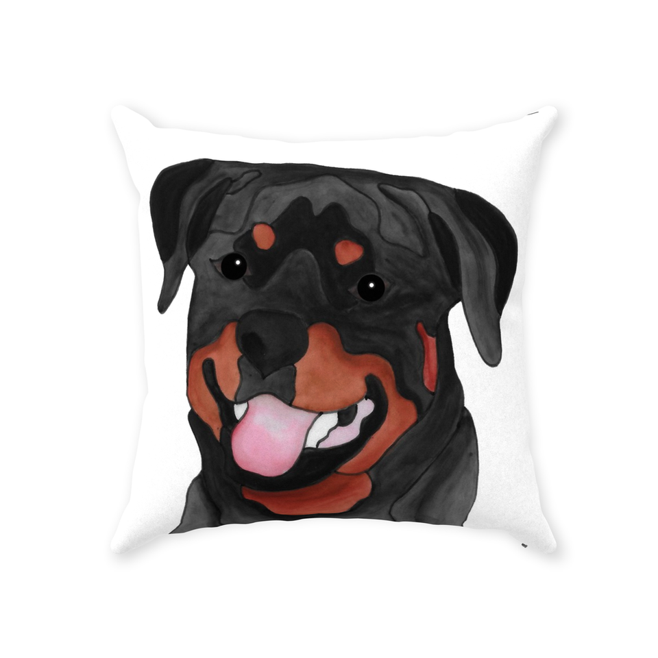 Rottweiler Dog Indoor Pillow - SMH