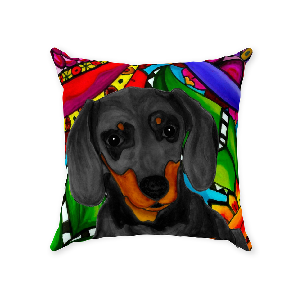 Dachshund Dog Indoor Pillow - BL