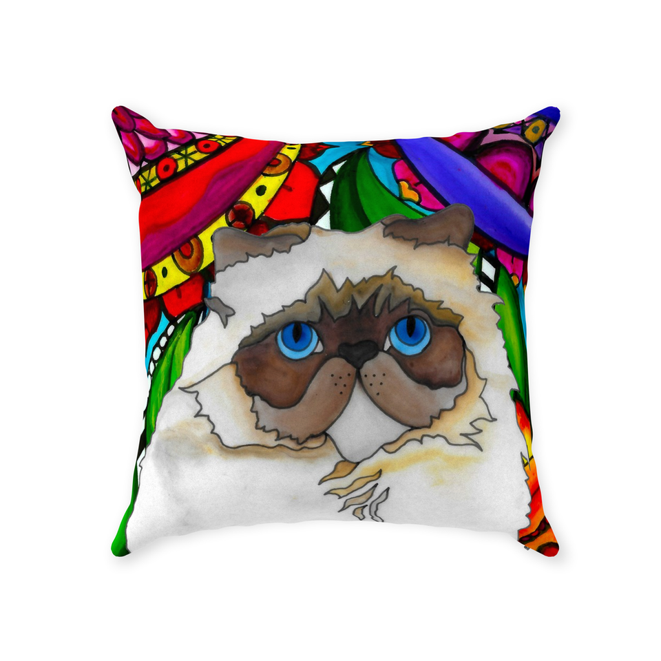 Persian Cat Indoor Pillow - BL