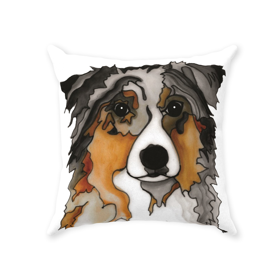 Australian Shepherd Dog Indoor Pillow - SMH
