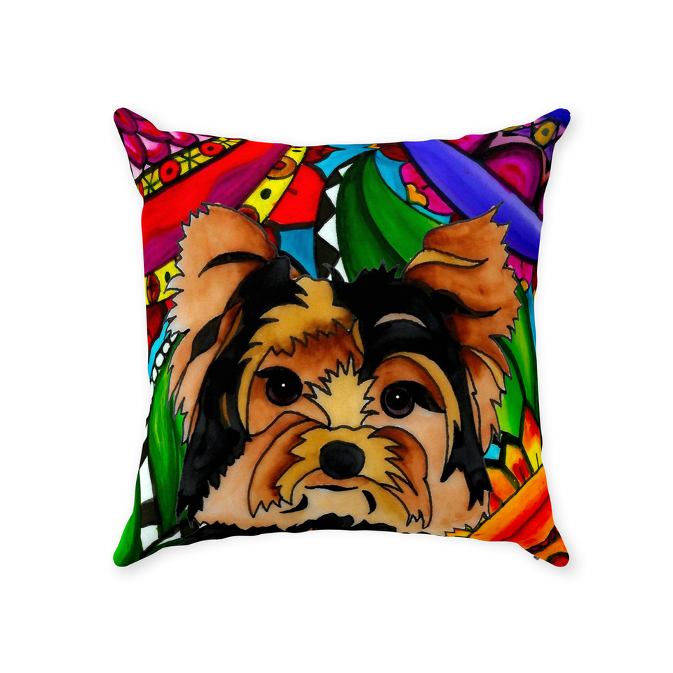 Yorkie Dog Indoor Pillow - BL