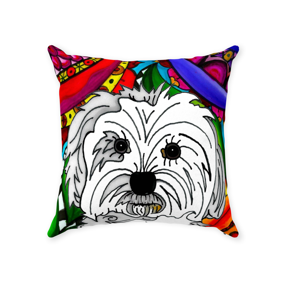 Maltese Dog Indoor Pillow - BL