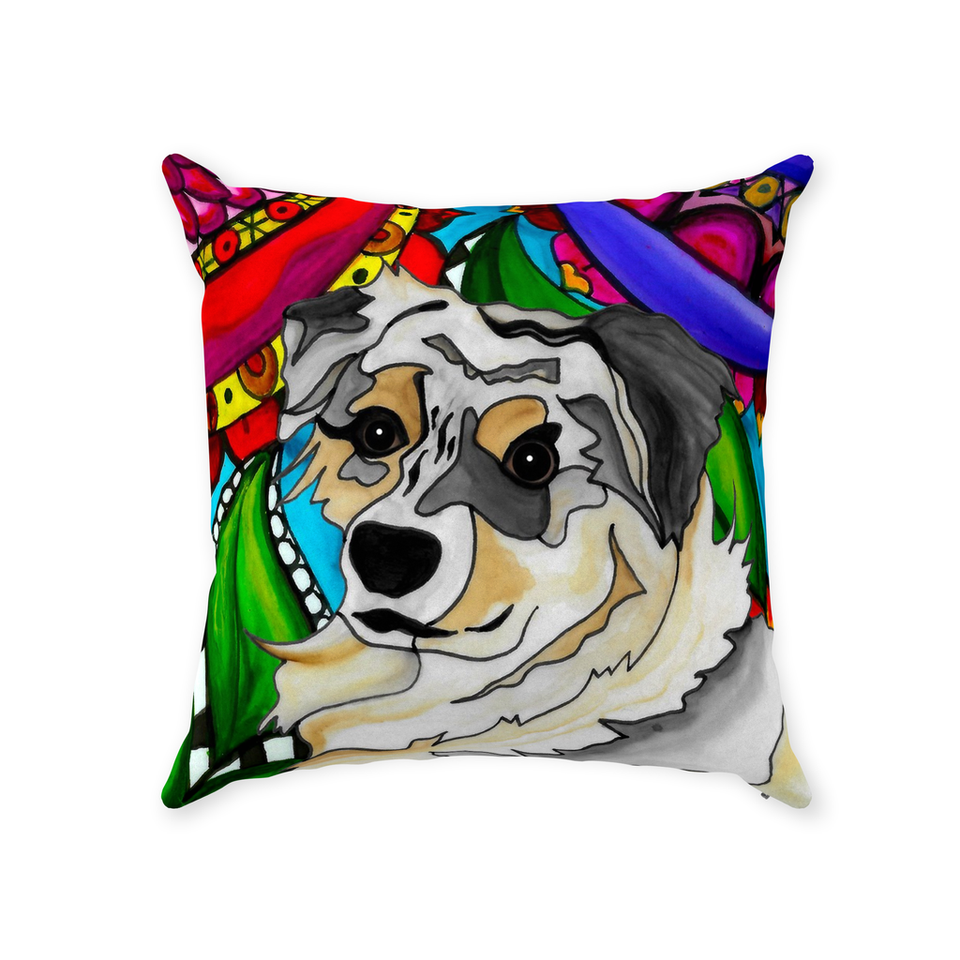 Australian Shepherd Dog Indoor Pillow - 2 - BL