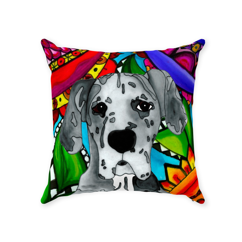 Great Dane Dog Indoor Pillow - BL