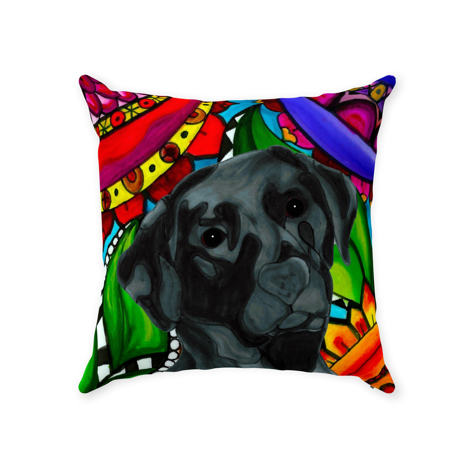 Black Lab Dog Indoor Pillow - BL