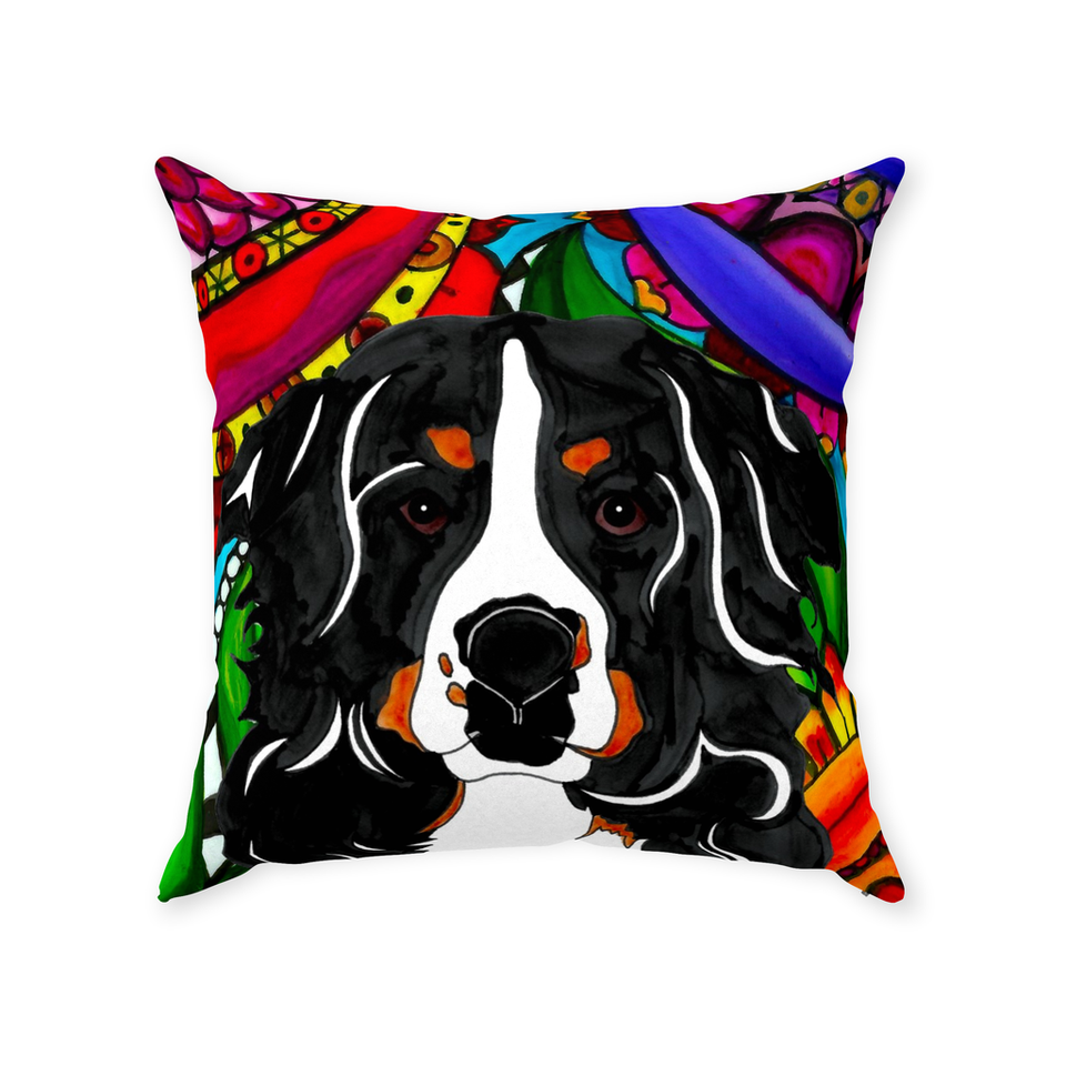 Bernese Mountain Dog Indoor Pillow - BL