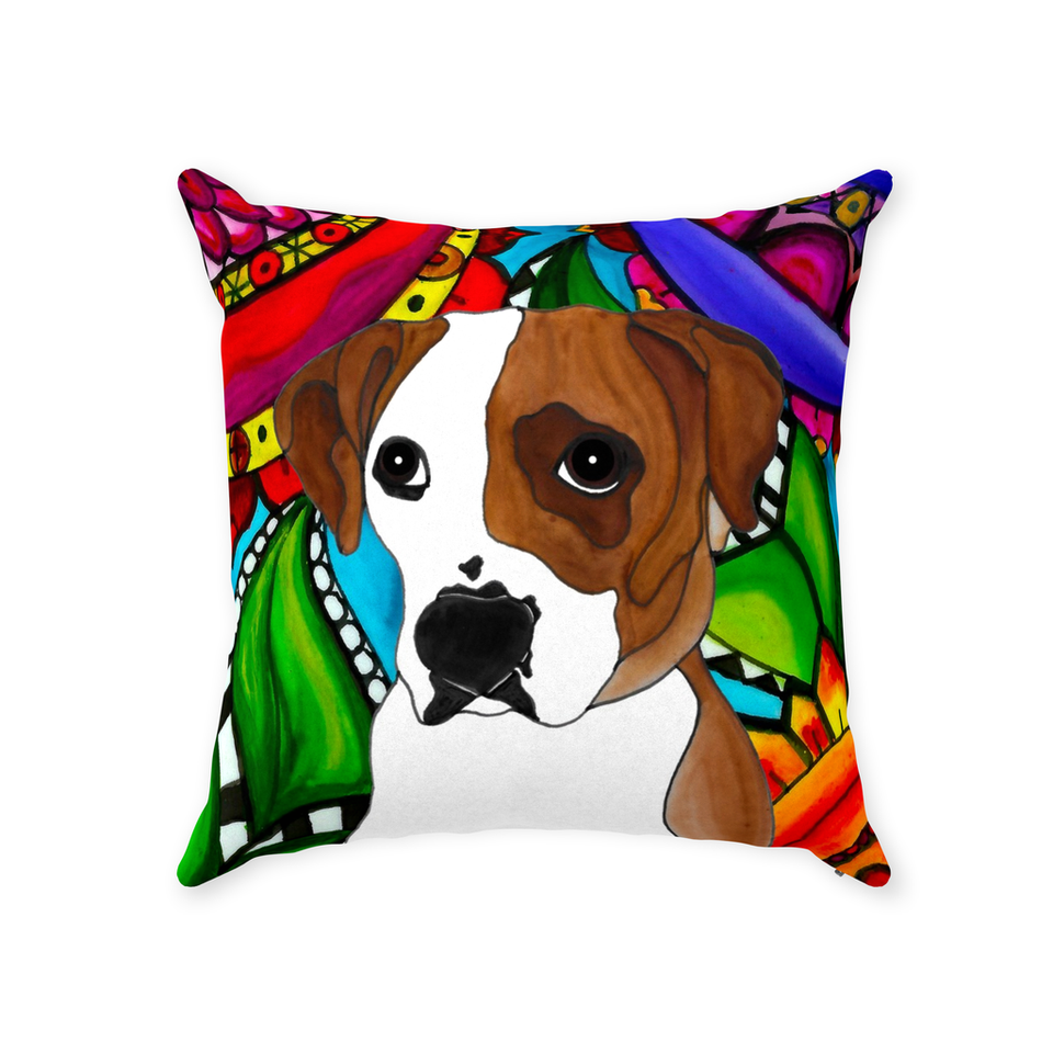 Boxer Dog Indoor Pillow - 3 - BL