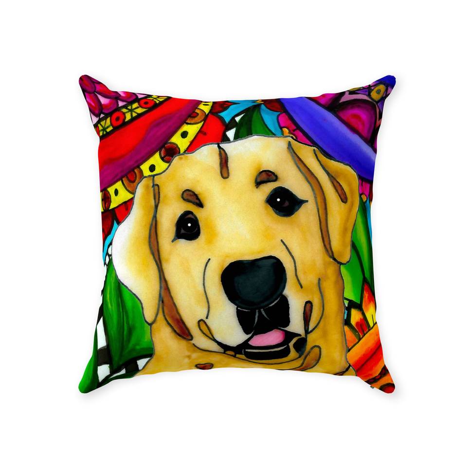 Yellow Lab Dog Indoor Pillow - BL