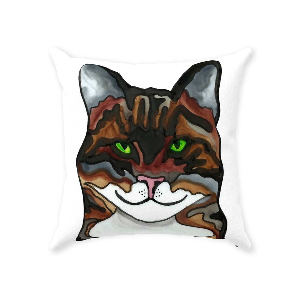 Tabby Cat Indoor Pillow - SMH