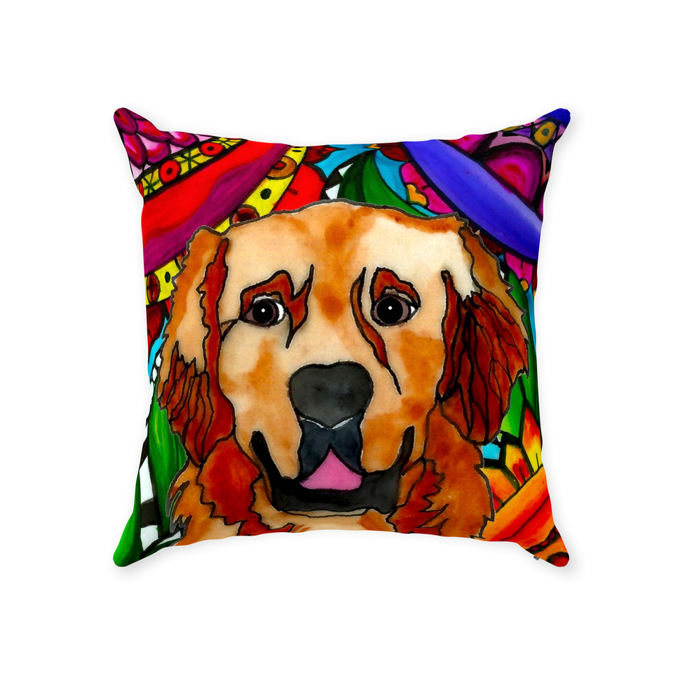 Golden Retriever Dog Indoor Pillow - BL