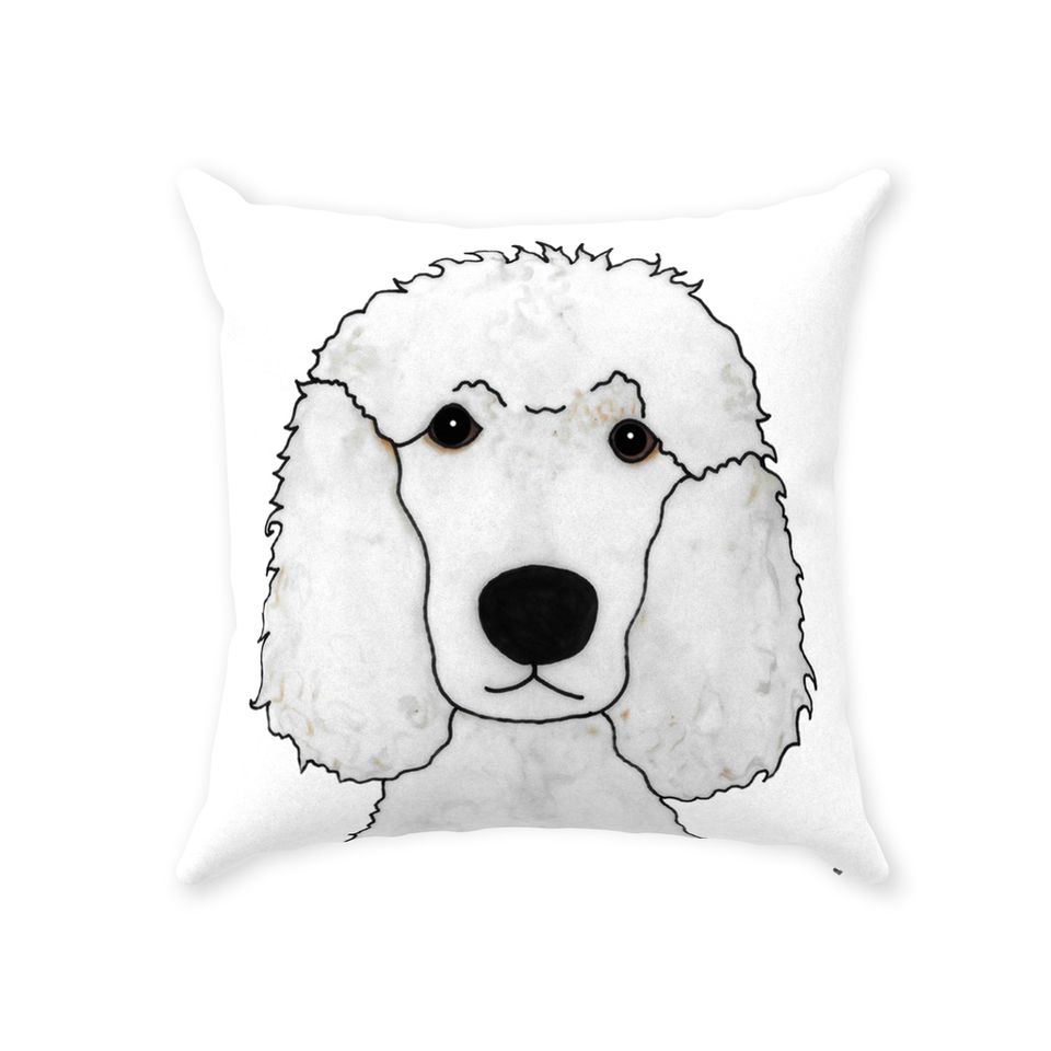 Standard Poodle Dog Indoor Pillow - 3 - SMH