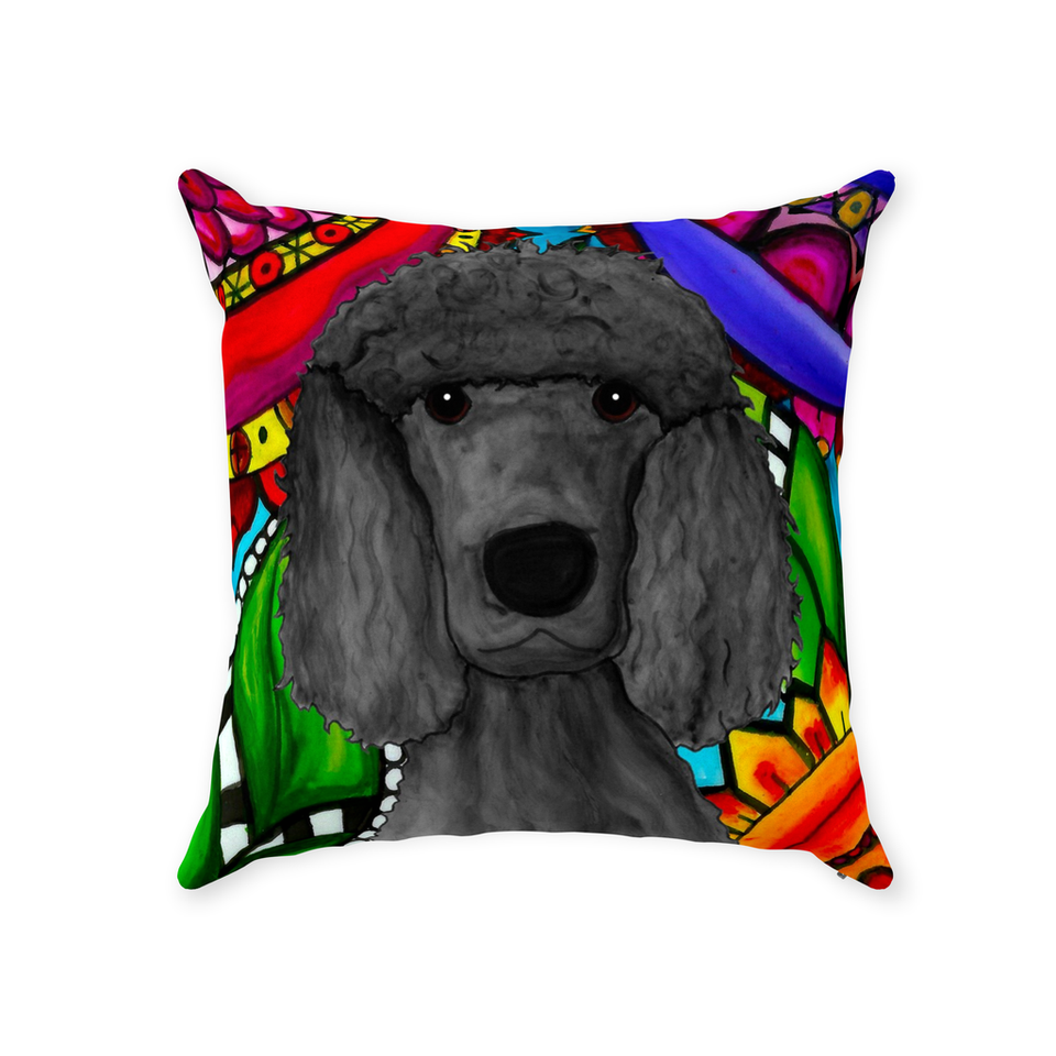 Standard Poodle Dog Indoor Pillow - BL