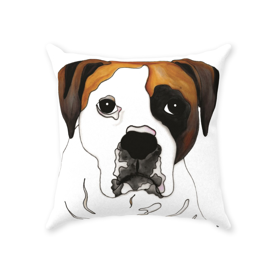 Boxer Dog Indoor Pillow - 2 - SMH