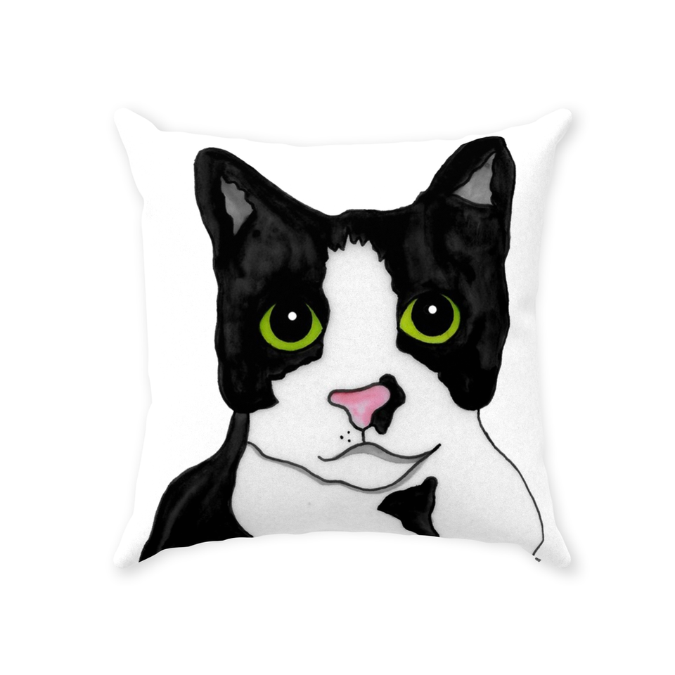 Tuxedo Cat Indoor Pillow - SMH