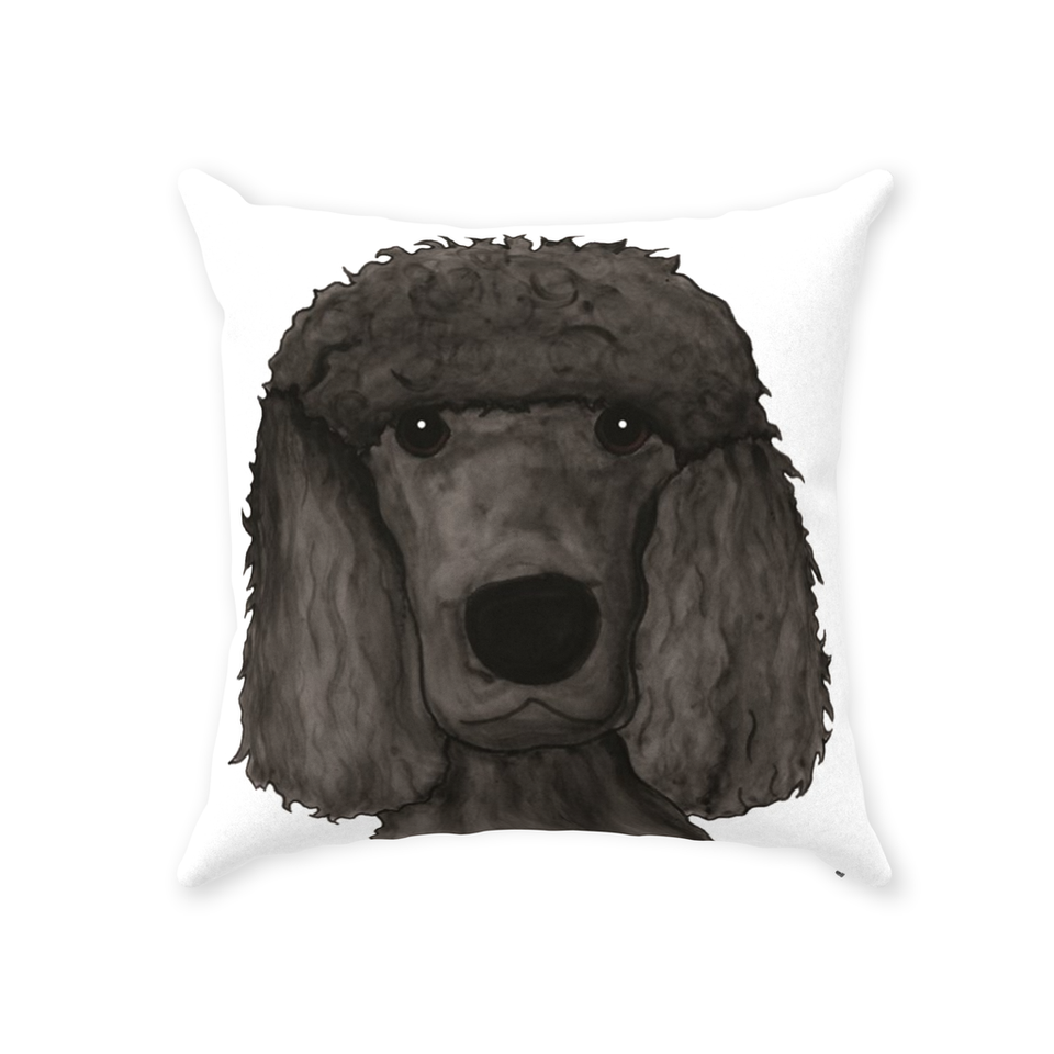 Standard Poodle Dog Indoor Pillow - SMH