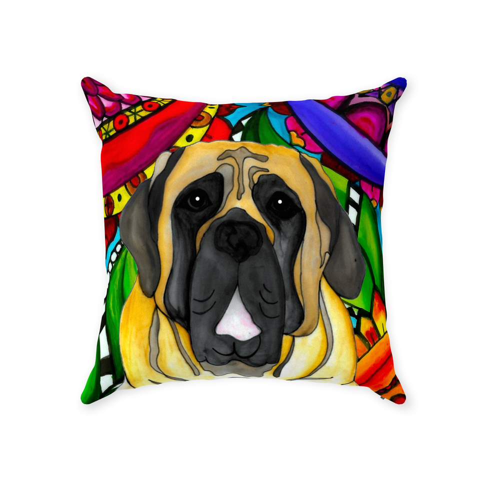 English Mastiff Dog Indoor Pillow - BL
