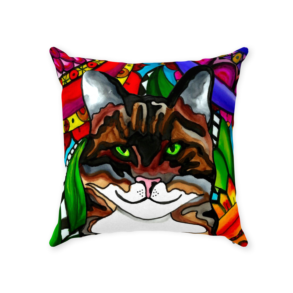 Tabby Cat Indoor Pillow - BL