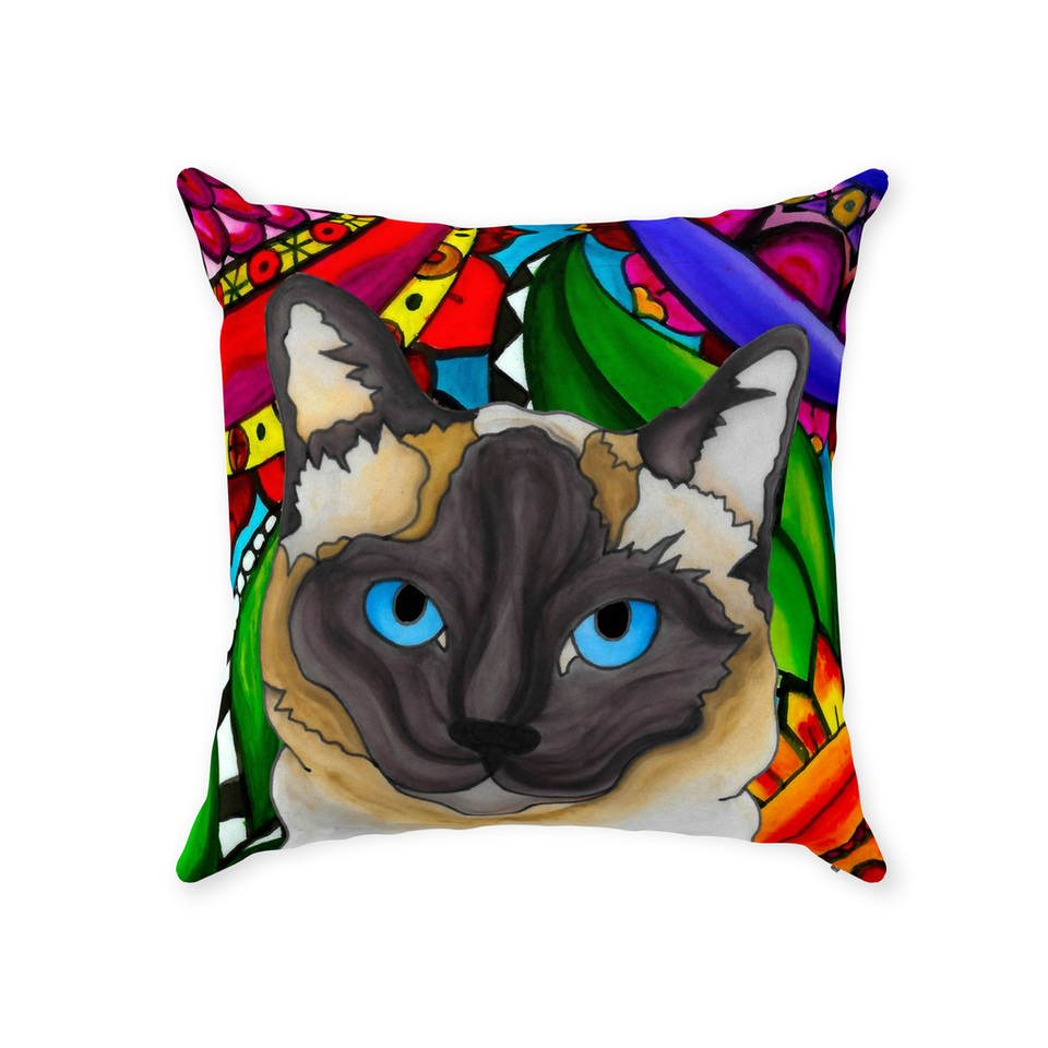 Siamese Cat Indoor Pillow - BL