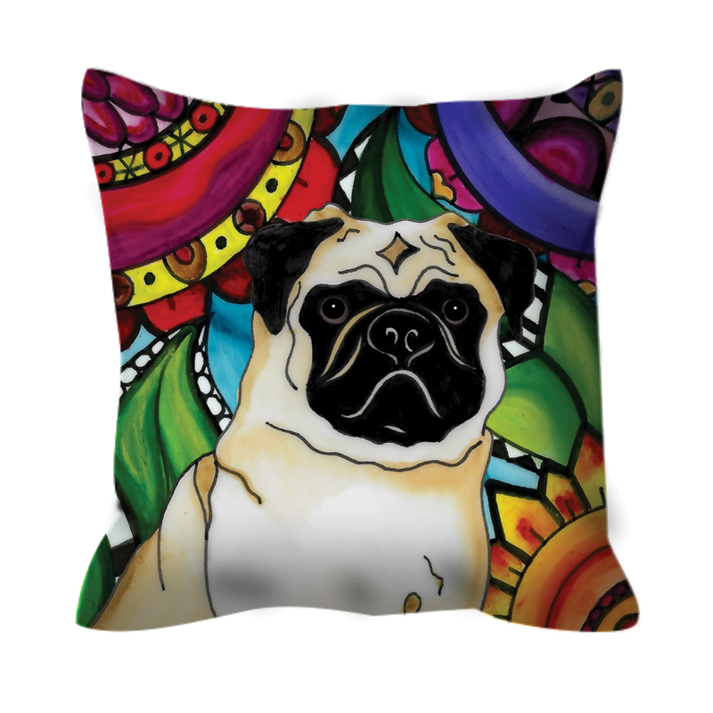 It's a Beautiful Pug Dog Life Outdoor Pillow