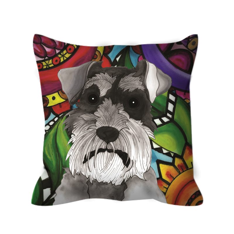 It's a Beautiful Schnauzer Life Outdoor Pillow