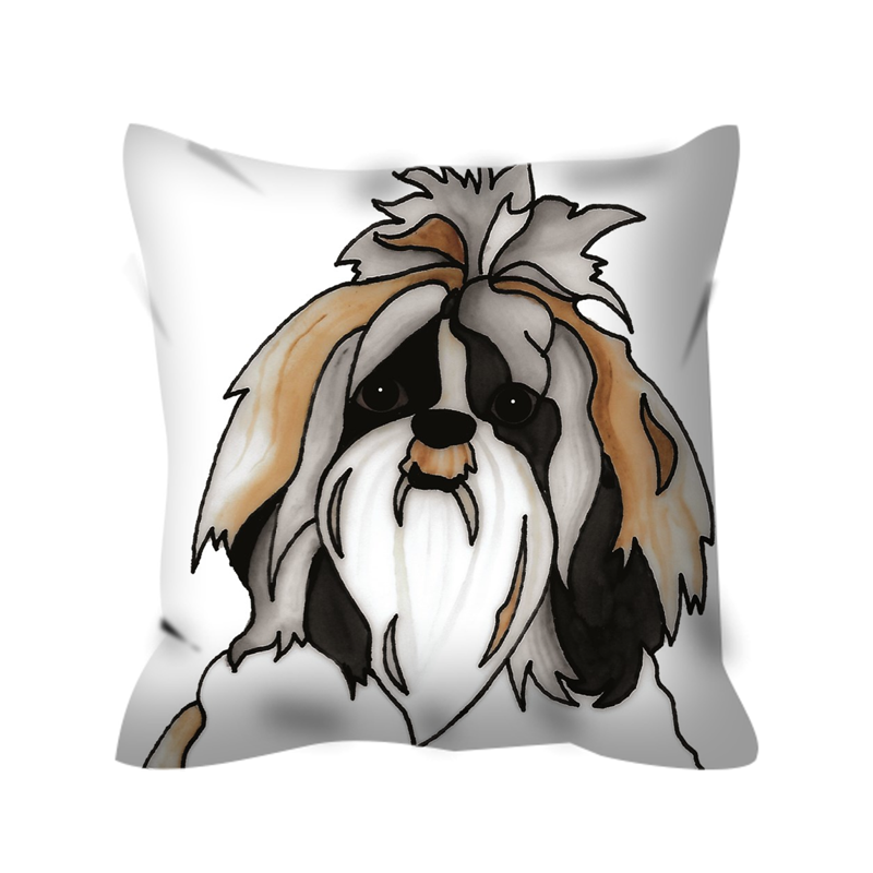 Stole My Heart Shih Tzu Outdoor Pillow