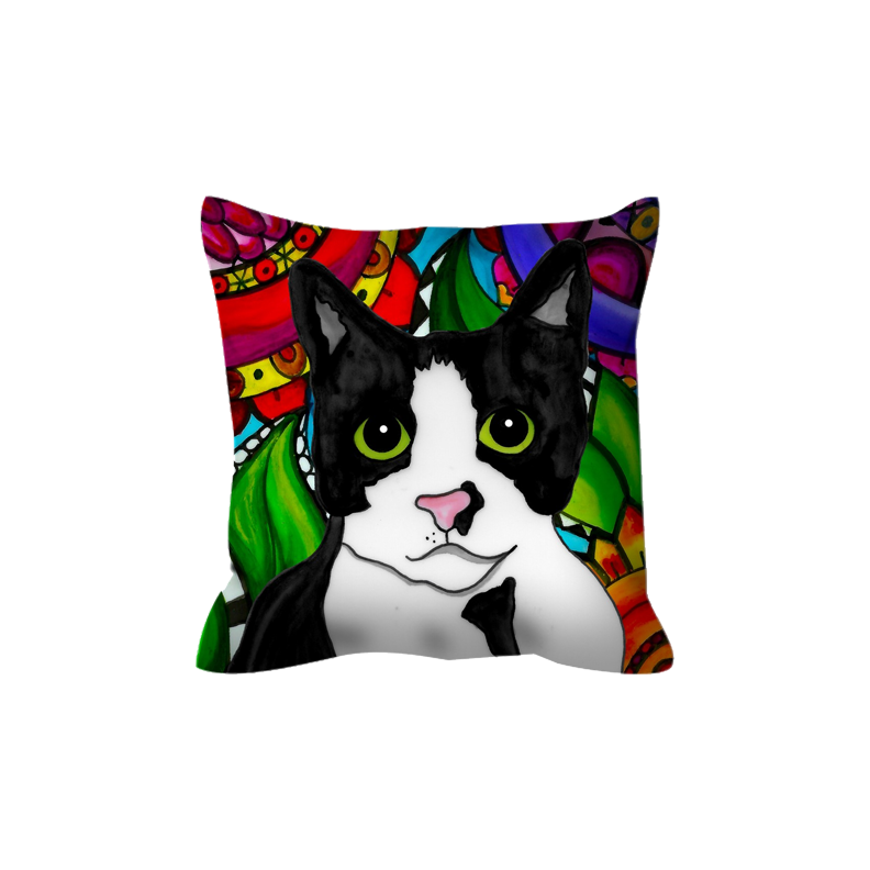 It's a Beautiful Tuxedo Cat Life Outdoor Pillow