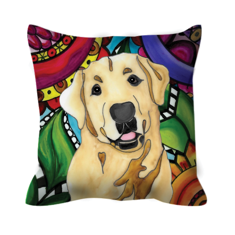 It's a Beautiful Yellow Lab Life Outdoor Pillow