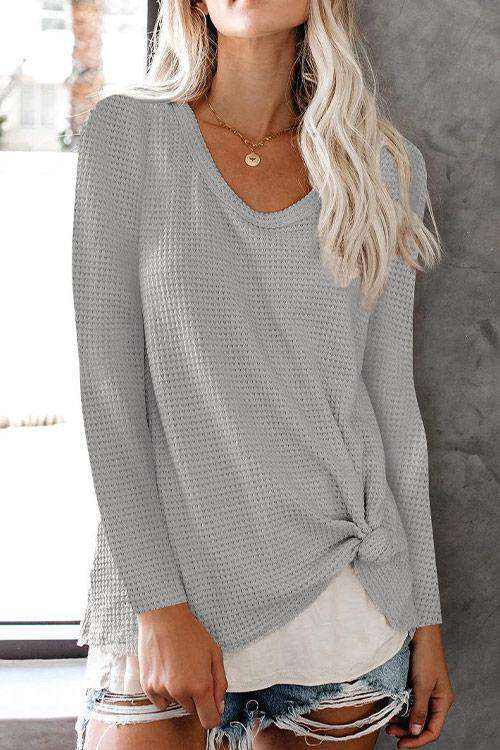 CielChic Asymmetrical Knit Sweater(4 Colors)-Sweaters & Cardigans-CielChic