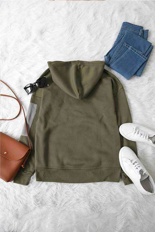 CielChic Casual Button Up Hoodie-Hoodies & Sweatshirts-CielChic