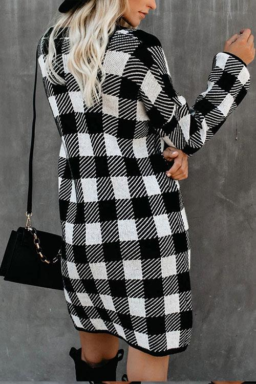 CielChic Colorblock Plaid Dress(2 Colors)-Dress-CielChic
