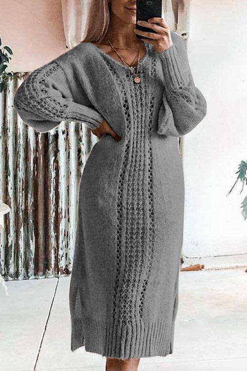 CielChic Eyelet Long Sweater(3 Colors)-Hoodies & Sweatshirts-CielChic