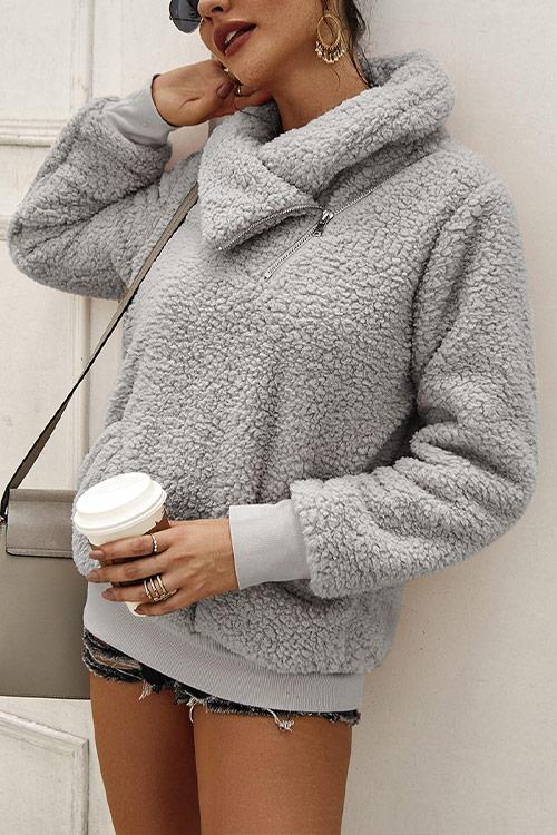CielChic Faux Fur Pocketed Cardigan(7 Colors)-Hoodies & Sweatshirts-CielChic