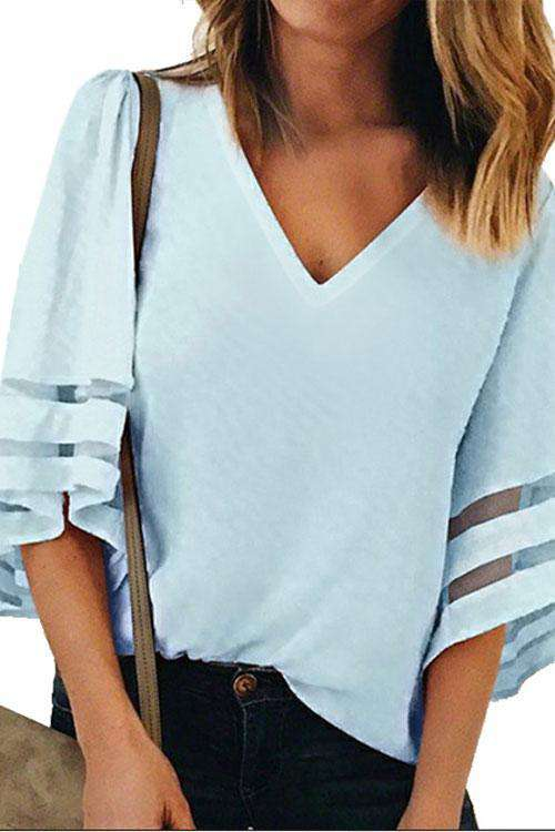 CielChic Flare Sleeve Top(8 Colors)-Blouses & Shirts-CielChic