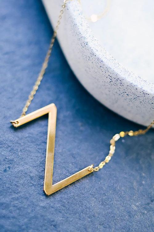 CielChic Gold Initial Necklace(A-Z)-Accessories-CielChic