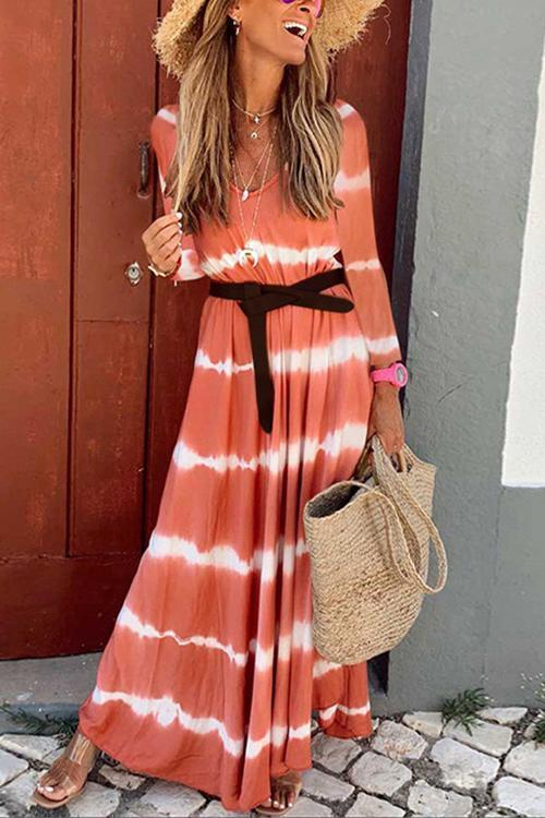CielChic Gradient Stripes Maxi Dress(3 Colors)-Dress-CielChic