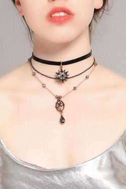 CielChic Leather Vintage Star Layered Pendant-Accessories-CielChic