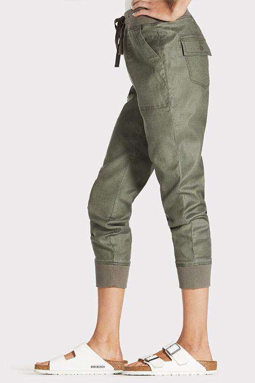 CielChic Linen Drawstring Pocketed Joggers-Pants-CielChic