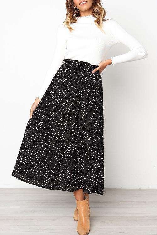 CielChic Pocketed Pleated Skirt(7 Colors)-Skirt-CielChic