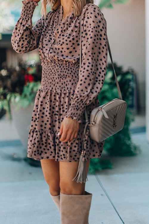 CielChic Polka Dot Casual Dress-Dress-CielChic
