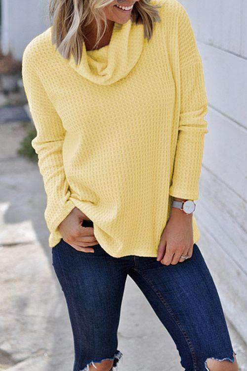 CielChic Turtleneck Solid Knitwear(5 Colors)-Sweaters & Cardigans-CielChic