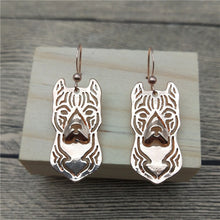Load image into Gallery viewer, New American Staffordshire Terrier Drop Earrings Trendy Style Dog Dangle Earrings Fashion Pet Earrings Women Jewellery
