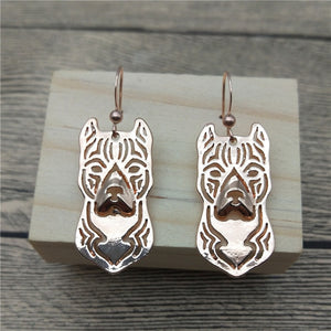 New American Staffordshire Terrier Drop Earrings Trendy Style Dog Dangle Earrings Fashion Pet Earrings Women Jewellery