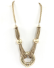 Gold Halted Ring Chain Necklace