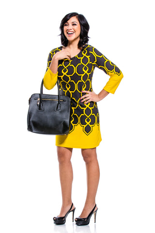 Mary Jane Yellow & Black Tunic