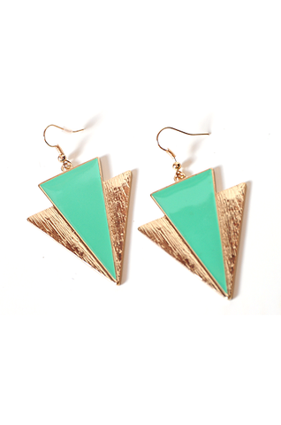 Mint Gold Earrings
