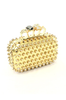 Gold Stud Knuckle Clutch