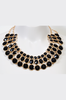 Black Jewel Bib Necklace